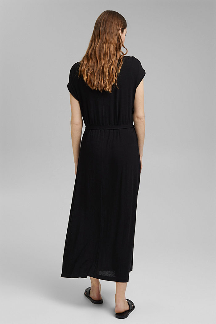 Jersey maxi dress made of LENZING™ ECOVERO™, BLACK, detail image number 2