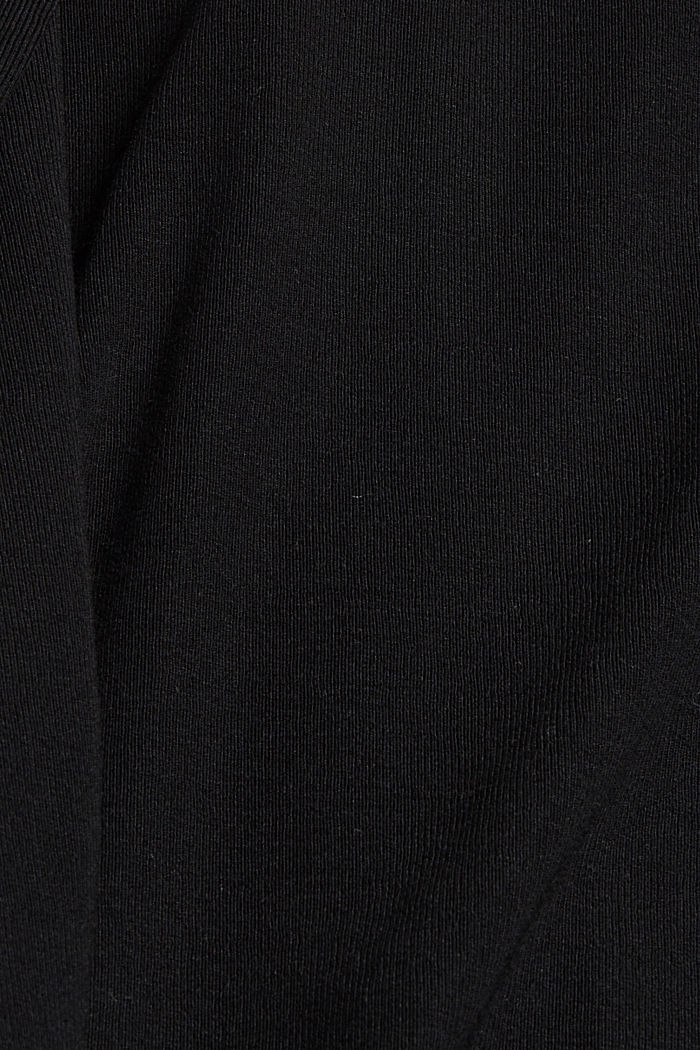Jersey maxi dress made of LENZING™ ECOVERO™, BLACK, detail image number 4
