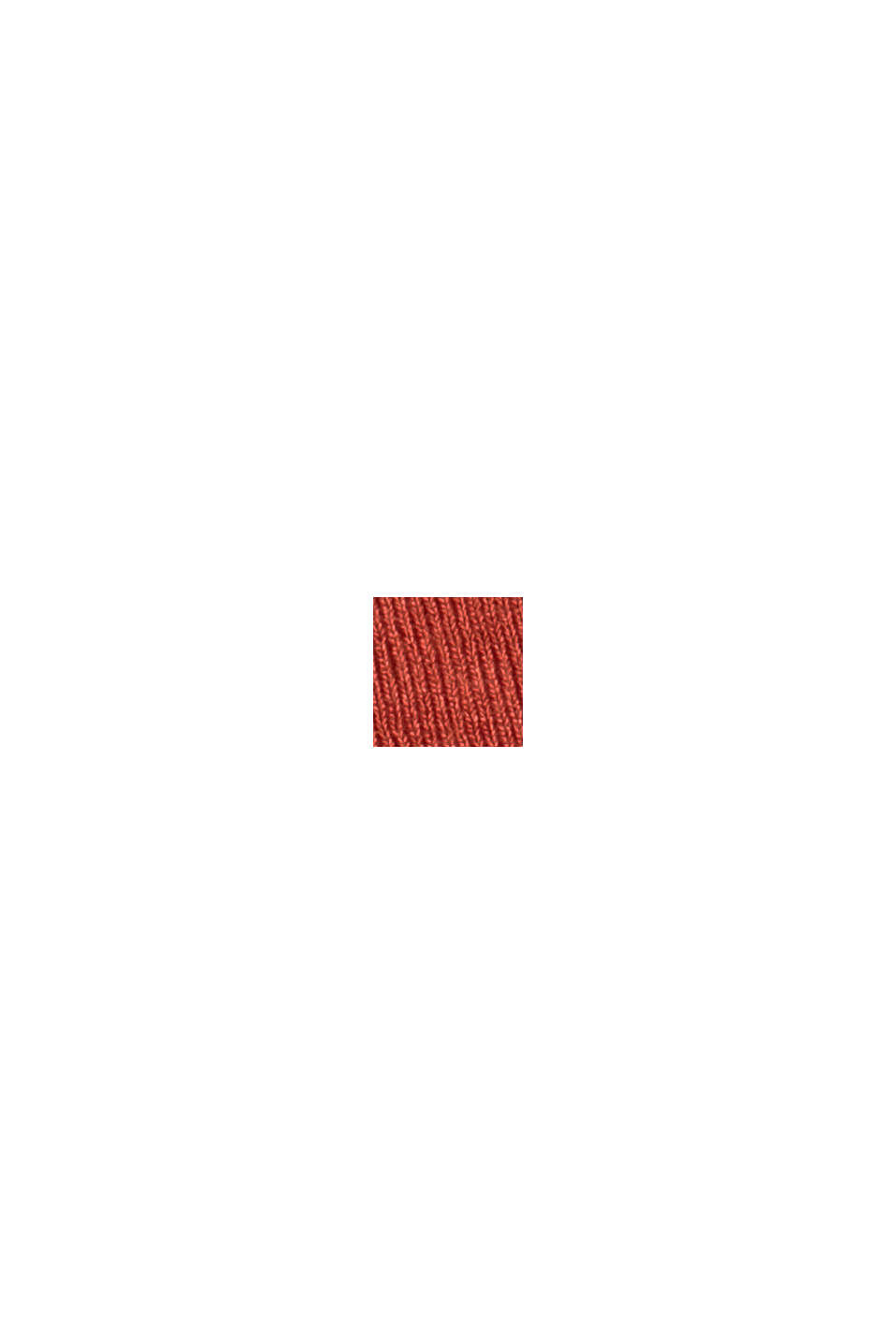 Jersey-Maxikleid aus LENZING™ ECOVERO™, TERRACOTTA, swatch