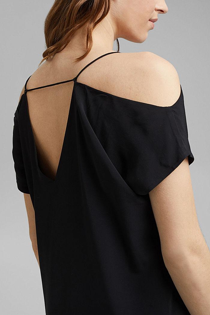 Dress with a Carmen neckline, BLACK, detail image number 3