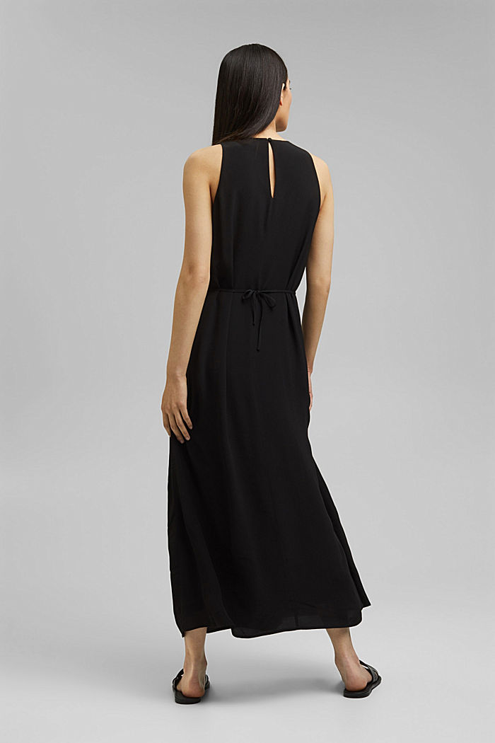 Maxi dress with LENZING™ ECOVERO™, BLACK, detail image number 2