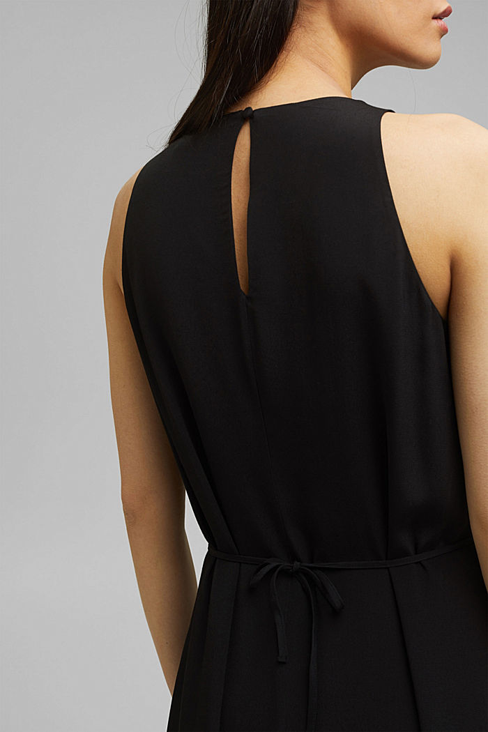 Maxi dress with LENZING™ ECOVERO™, BLACK, detail image number 3