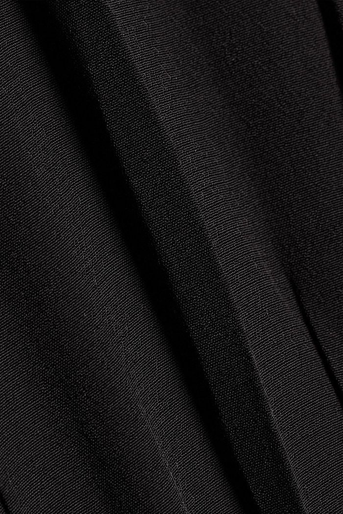 Maxi dress with LENZING™ ECOVERO™, BLACK, detail image number 4