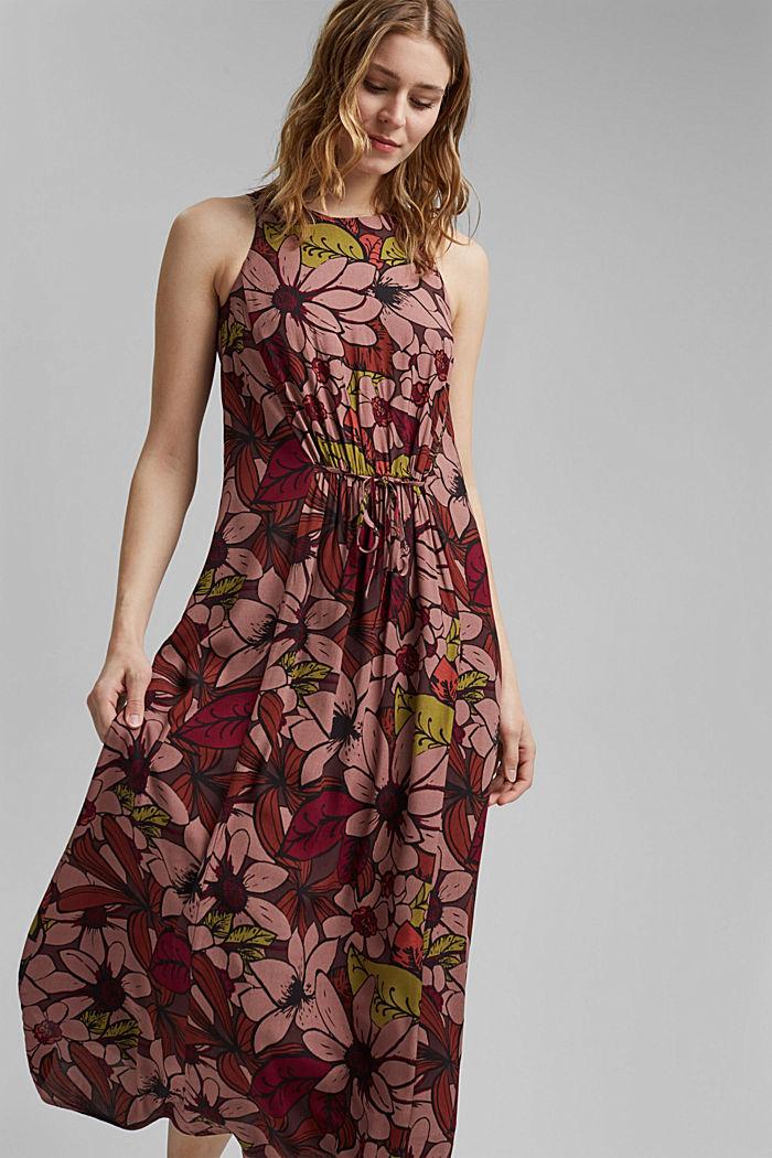 Kwiecista sukienka maxi z LENZING™ ECOVERO™