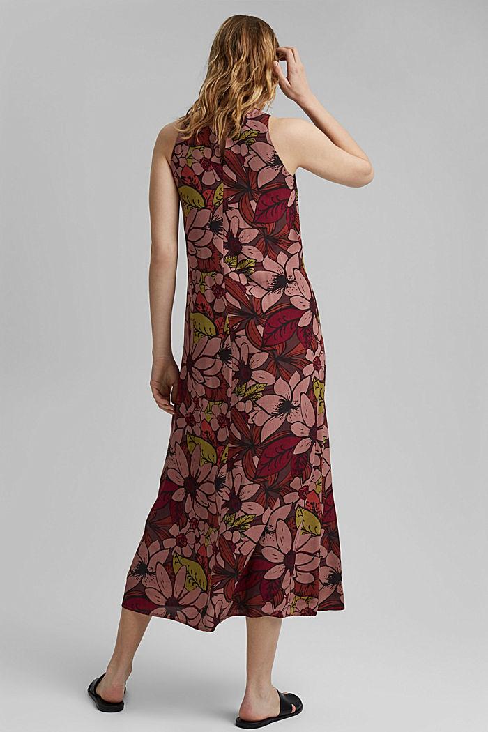 Gebloemde maxi-jurk met LENZING™ ECOVERO™, TERRACOTTA, detail image number 2