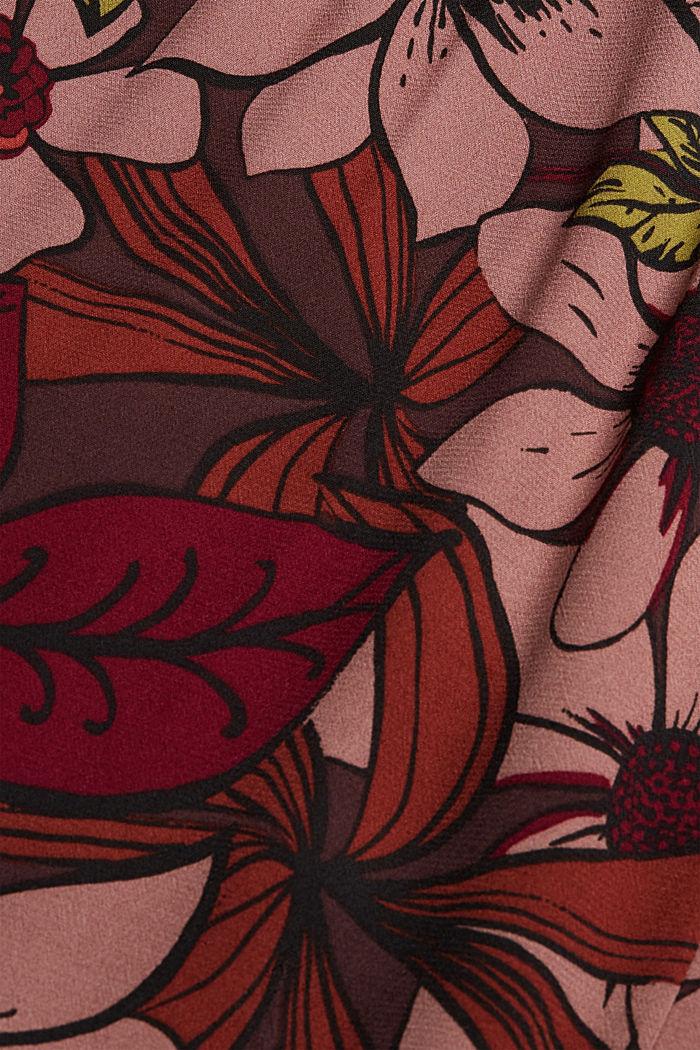 Gebloemde maxi-jurk met LENZING™ ECOVERO™, TERRACOTTA, detail image number 4
