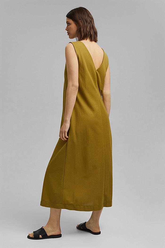 V-neck midi dress, LENZING™ ECOVERO™, OLIVE, detail image number 2
