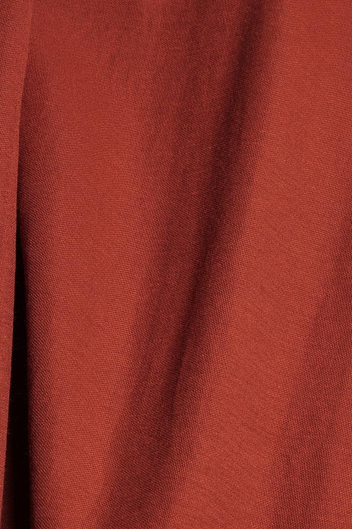Midikleid mit V-Ausschnitten, LENZING™ ECOVERO™, TERRACOTTA, detail image number 4