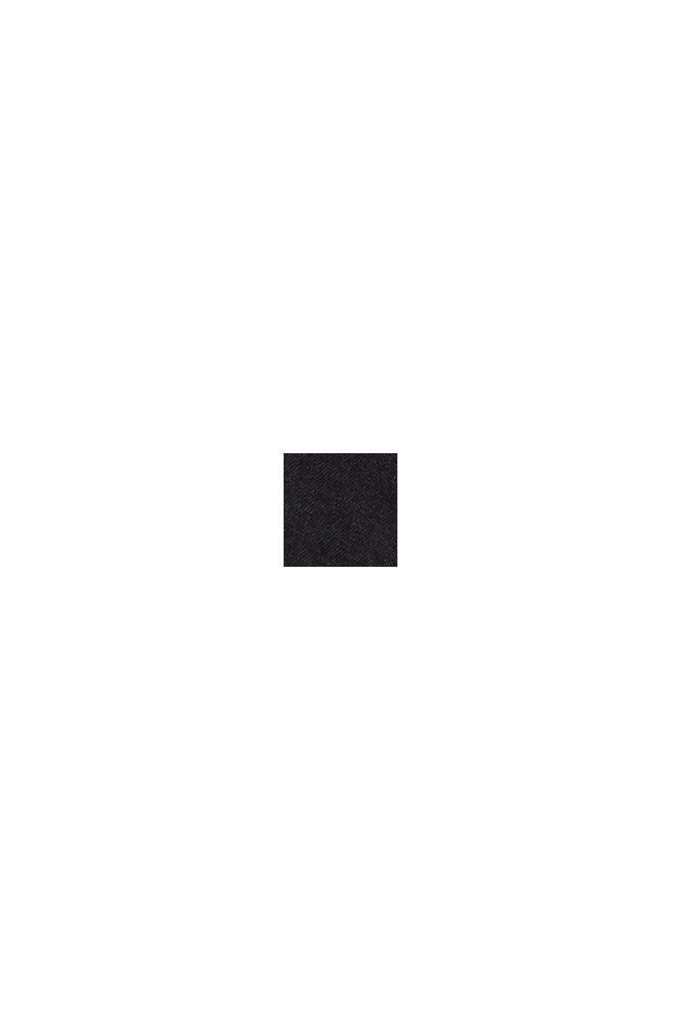 Mouwloze katoenen midi-jurk met volant, BLACK, swatch