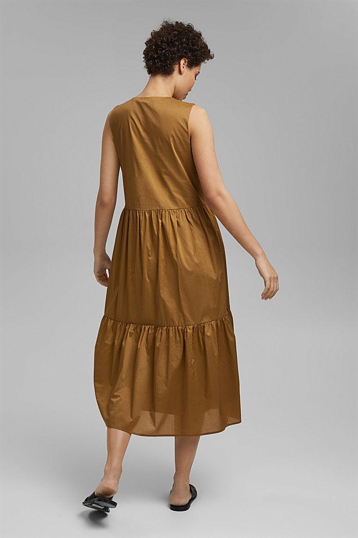 Sleeveless flounce midi dress made of cotton, BARK, detail image number 2