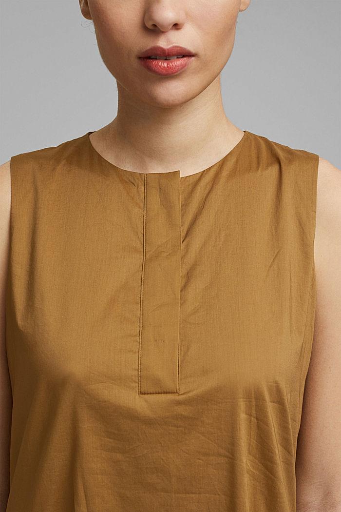 Sleeveless flounce midi dress made of cotton, BARK, detail image number 3