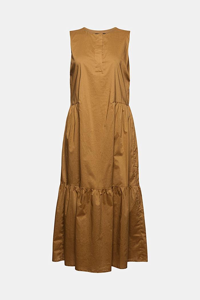 Sleeveless flounce midi dress made of cotton, BARK, detail image number 7