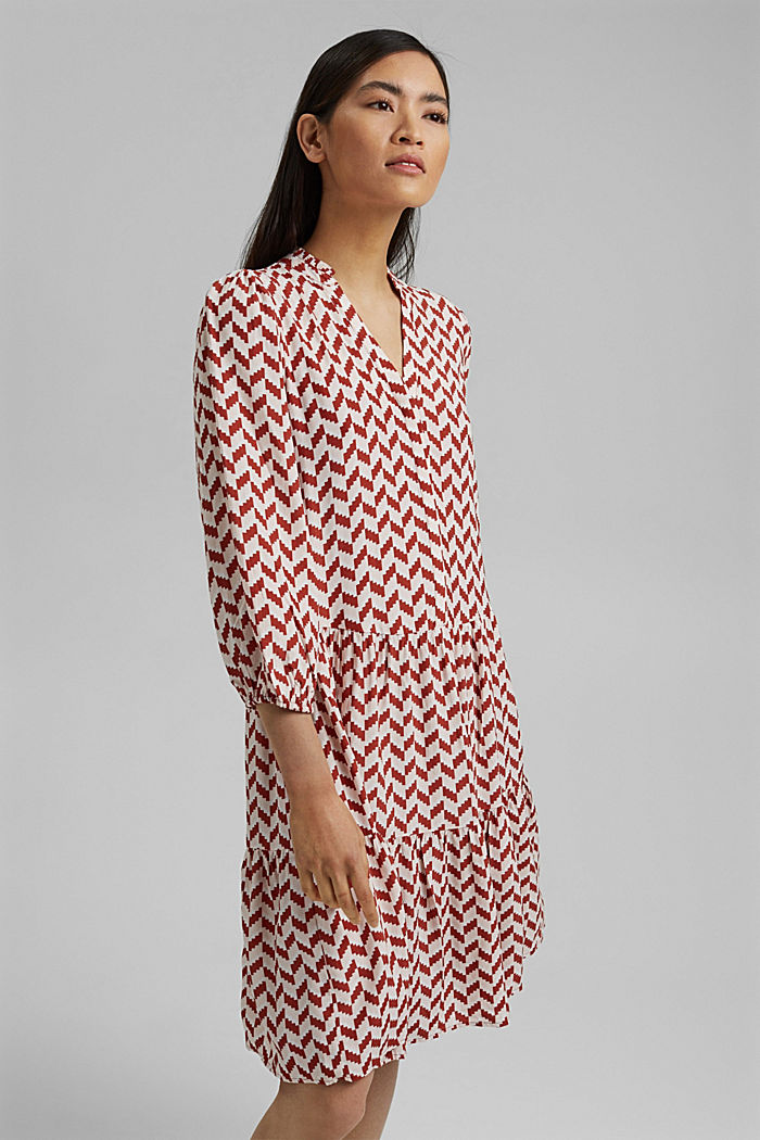Dress with a graphic print and LENZING™ ECOVERO™
