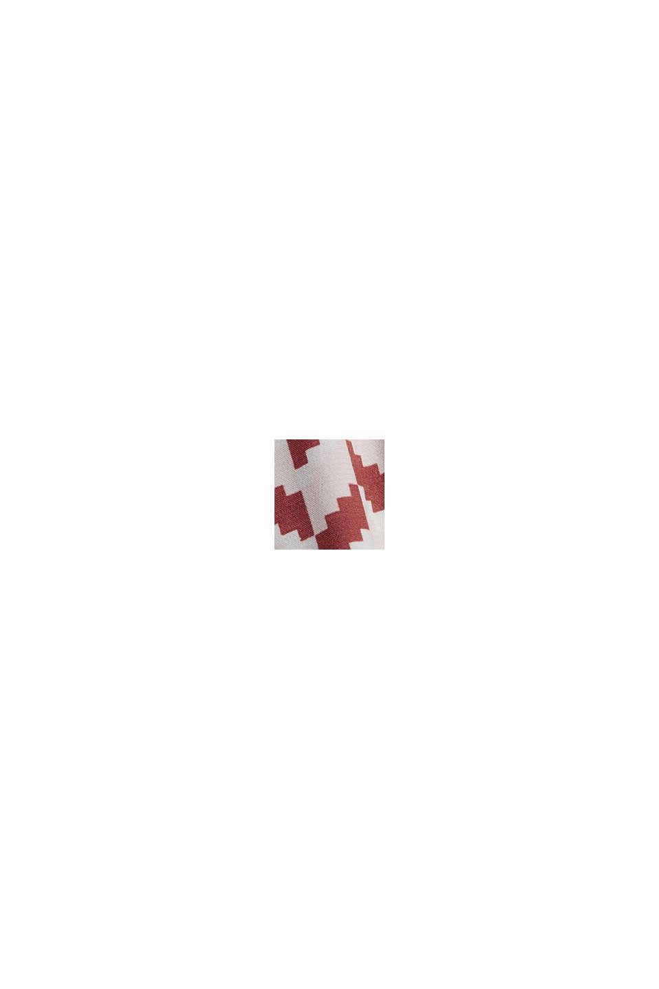 Klänning med grafiskt mönster och LENZING™ ECOVERO™, TERRACOTTA, swatch