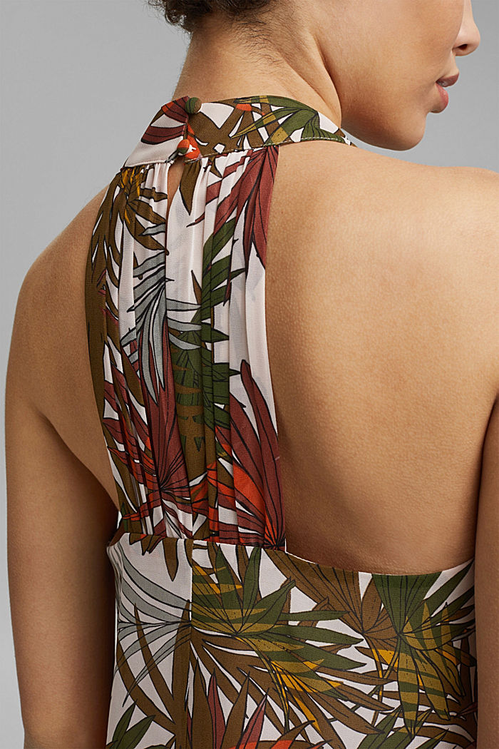 Chiffon blouse top with a botanical print, LIGHT PINK, detail image number 2