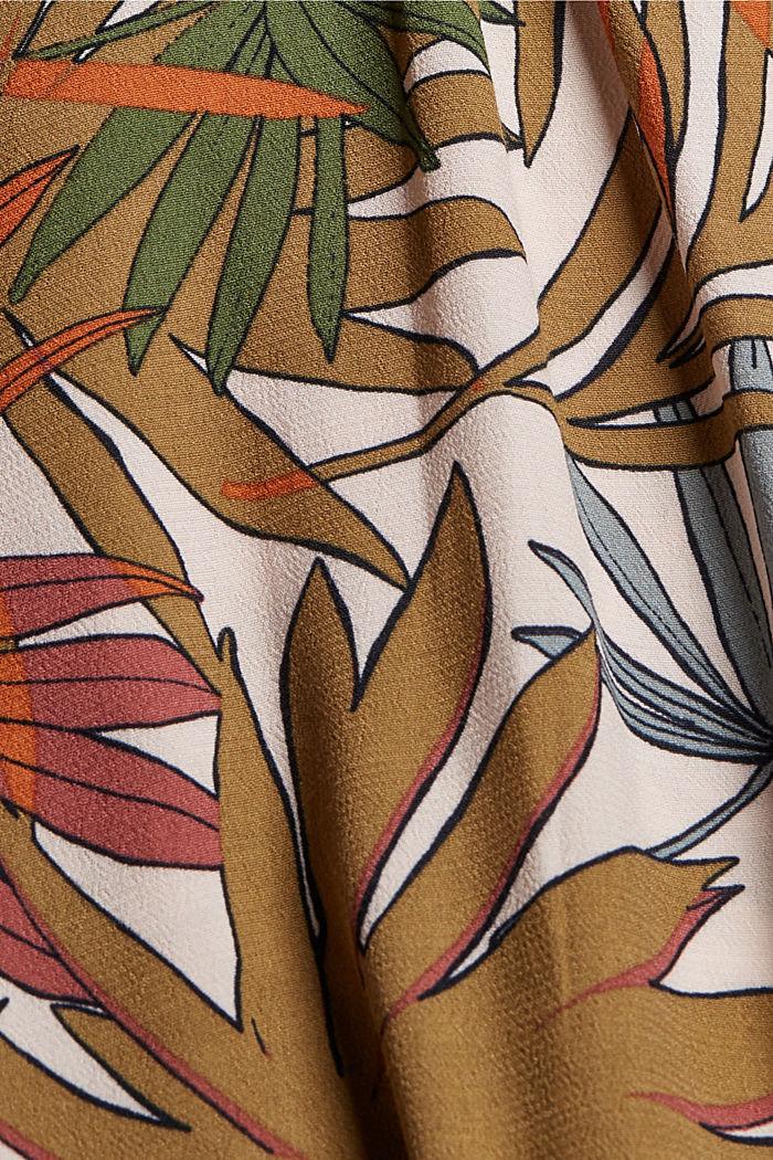 Blouse met print van viscose-crêpe, LIGHT PINK, detail image number 4