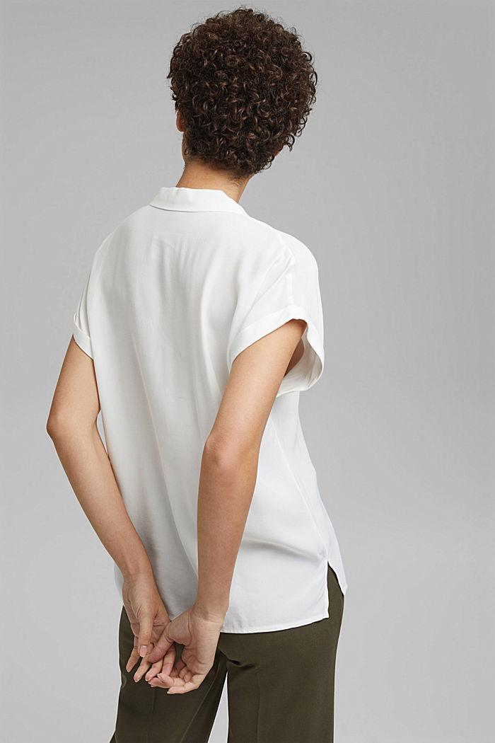 Pyjamakauluksellinen puserotoppi, LENZING™ ECOVEROA™, OFF WHITE, detail image number 3