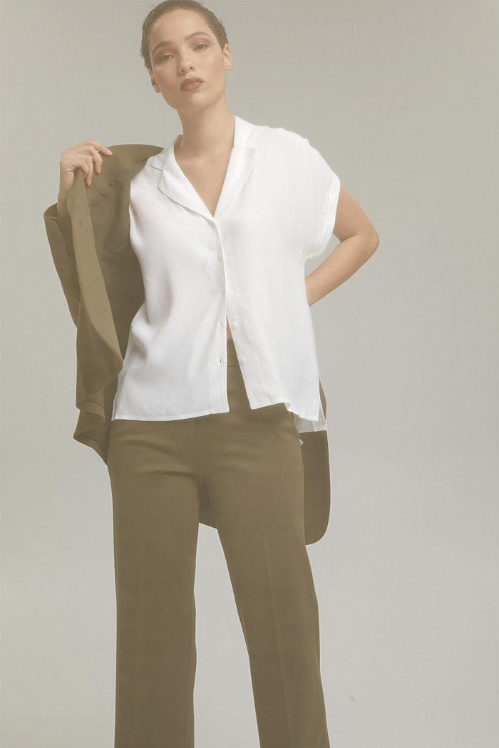 Pyjamakauluksellinen puserotoppi, LENZING™ ECOVEROA™, OFF WHITE, detail image number 5