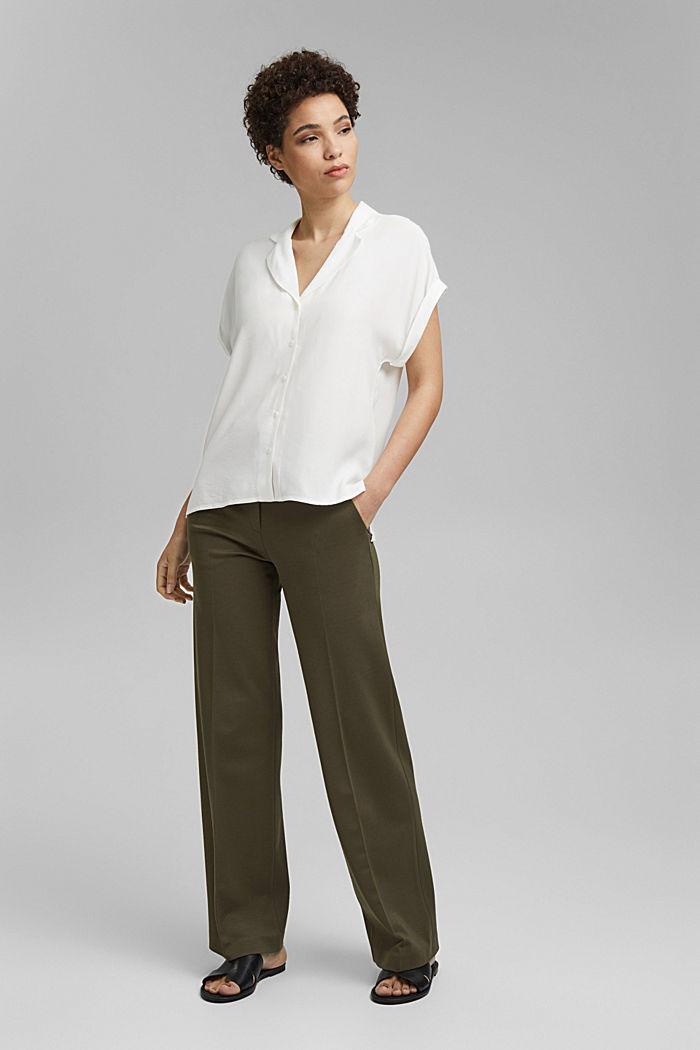 Pyjamakauluksellinen puserotoppi, LENZING™ ECOVEROA™, OFF WHITE, detail image number 6
