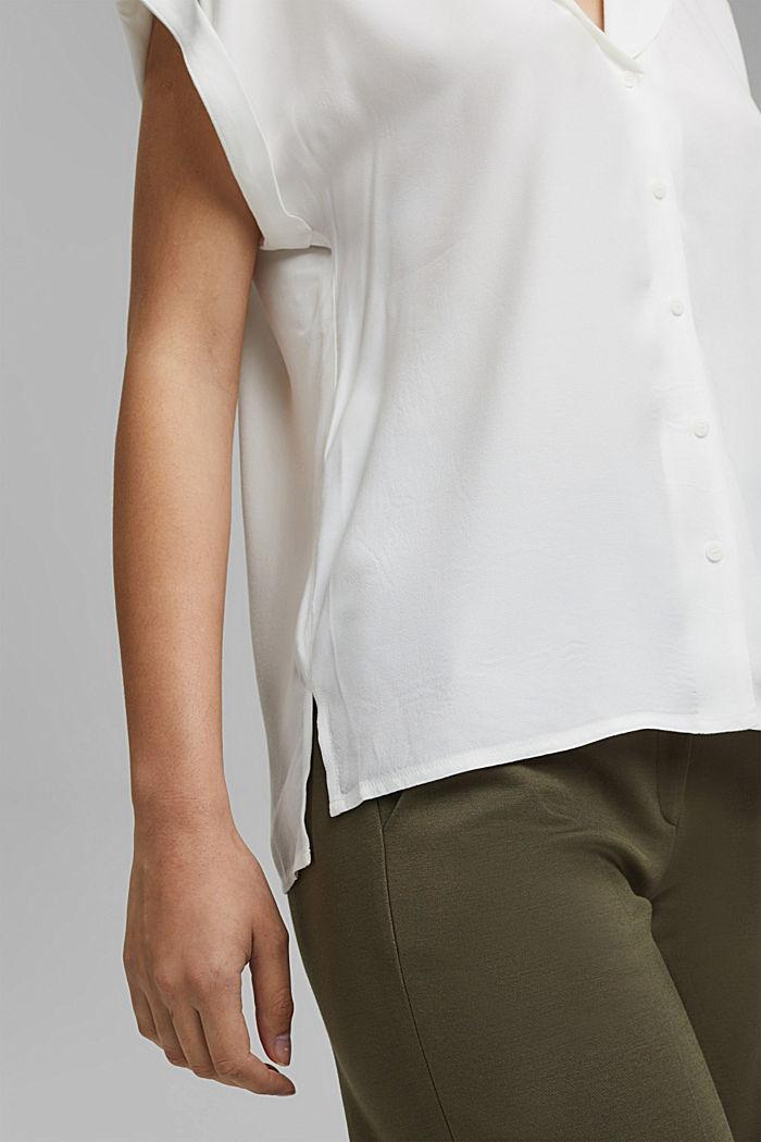 Pyjamakauluksellinen puserotoppi, LENZING™ ECOVEROA™, OFF WHITE, detail image number 2