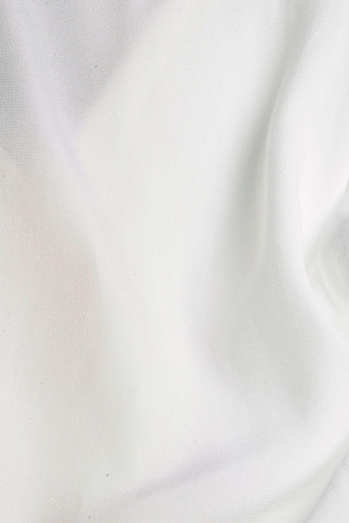Pyjamakauluksellinen puserotoppi, LENZING™ ECOVEROA™, OFF WHITE, detail image number 4