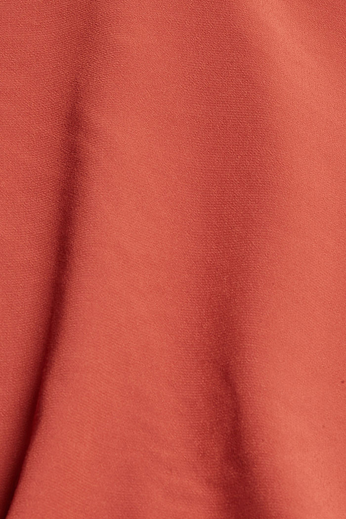 Blouse with a Carmen neckline, TERRACOTTA, detail image number 4