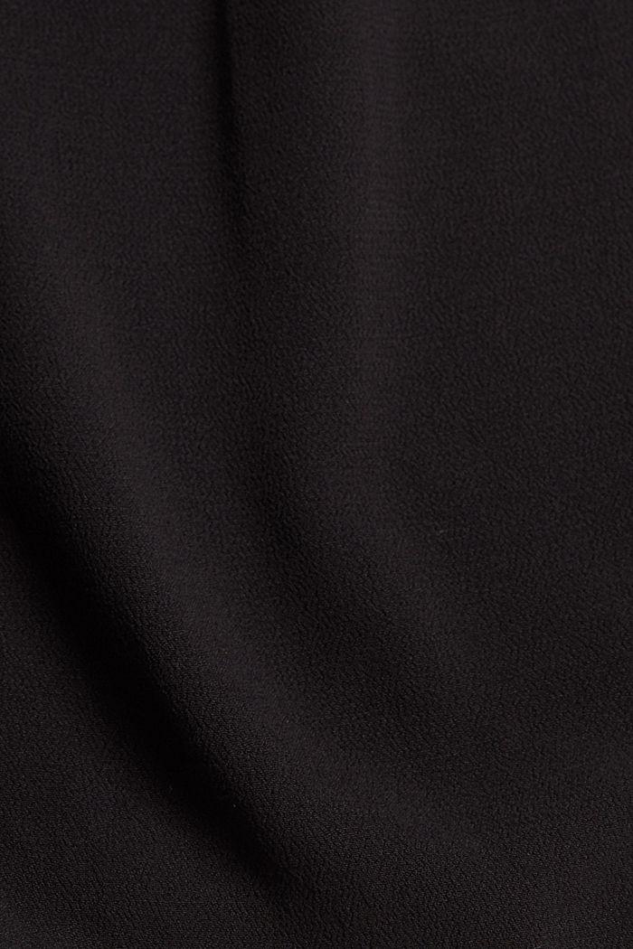 Chemisier à manches courtes en crêpe de viscose, BLACK, detail image number 4