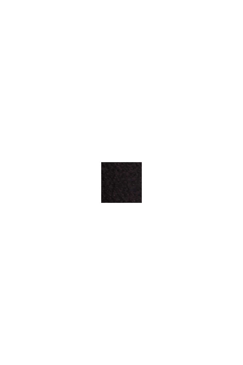 Blusa de manga corta en crepé de viscosa, BLACK, swatch