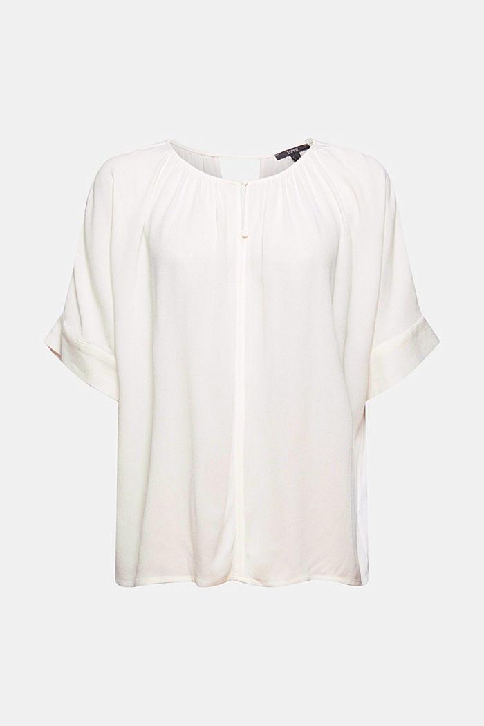 Short sleeve blouse made of viscose-crêpe