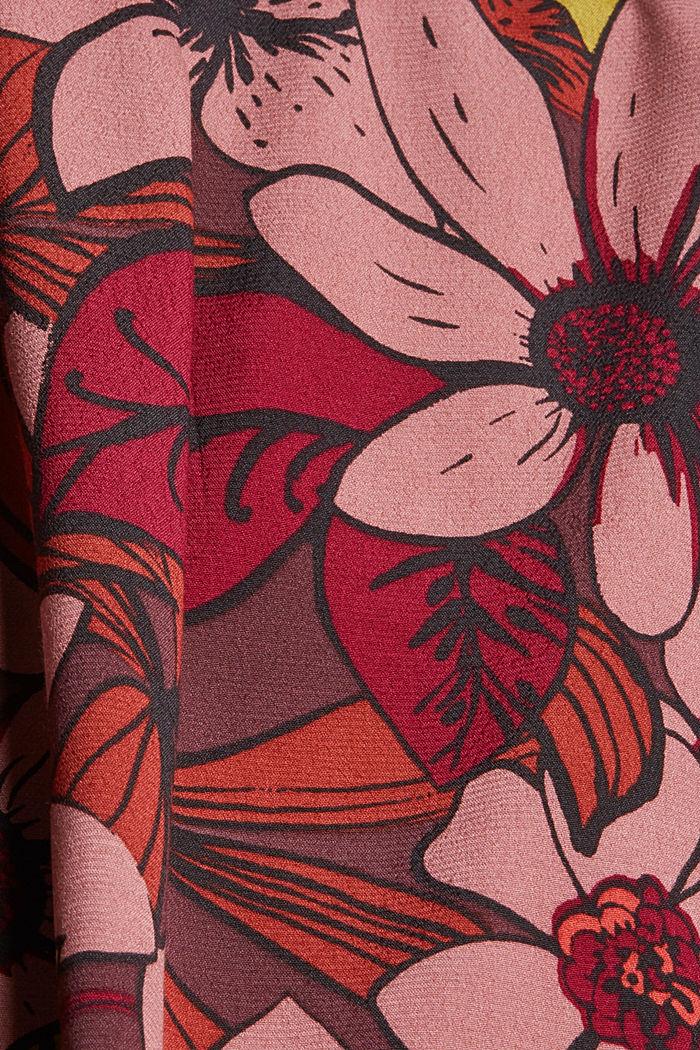 Top façon blouse à imprimé à fleurs, LENZING™ ECOVERO™, TERRACOTTA, detail image number 4