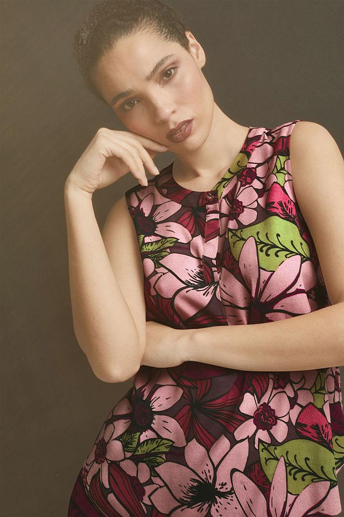 Top façon blouse à imprimé à fleurs, LENZING™ ECOVERO™, TERRACOTTA, detail image number 5