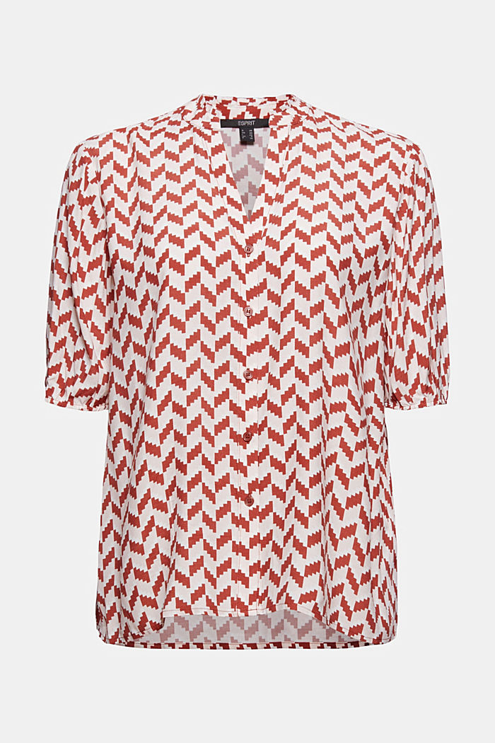 Blouse top with a graphic print, LENZING™ ECOVERO™
