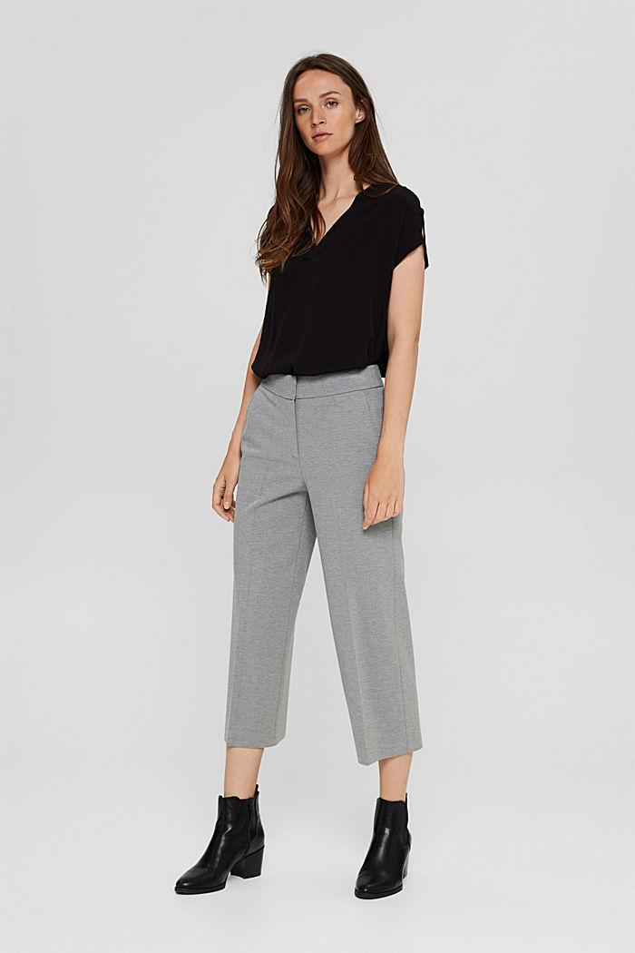 Crêpe blousetop met LENZING™ ECOVERO™, BLACK, detail image number 1
