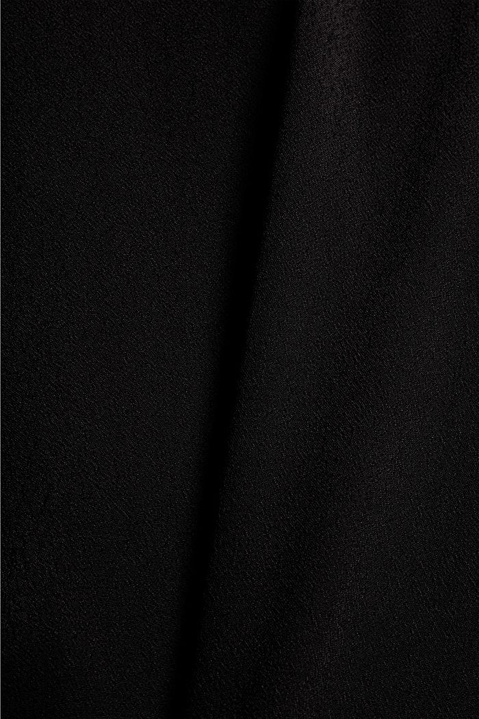 Crêpe blousetop met LENZING™ ECOVERO™, BLACK, detail image number 4