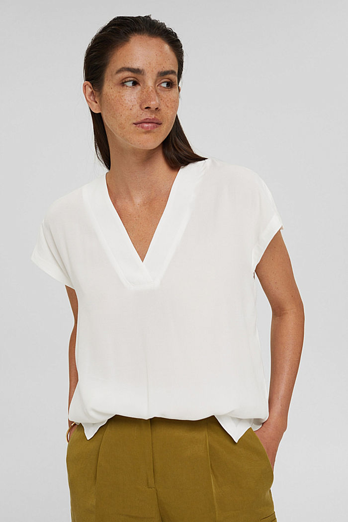 Crêpe blouse top with LENZING™ ECOVERO™