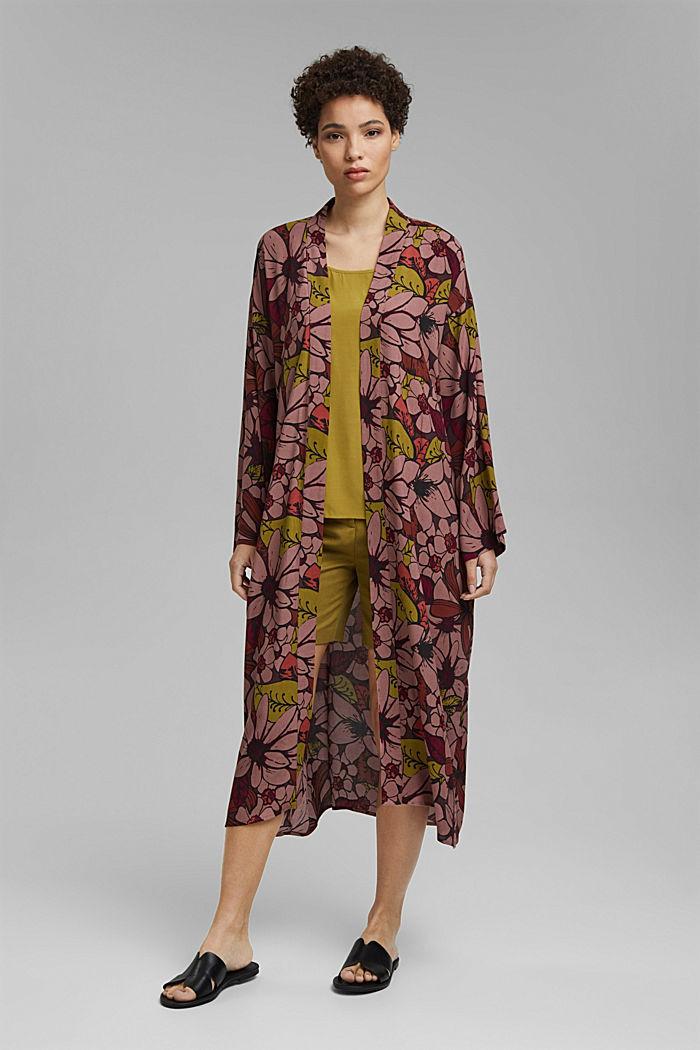 Kimono mit Blumenprint, LENZING™ ECOVERO™, TERRACOTTA, detail image number 1