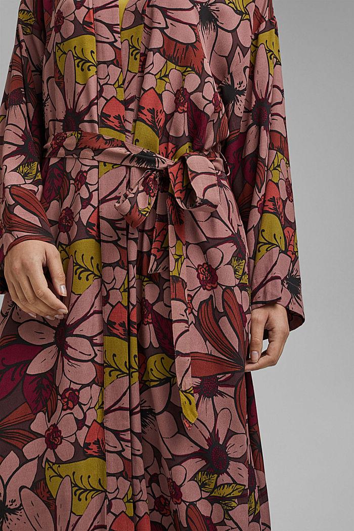 Kimono mit Blumenprint, LENZING™ ECOVERO™, TERRACOTTA, detail image number 2