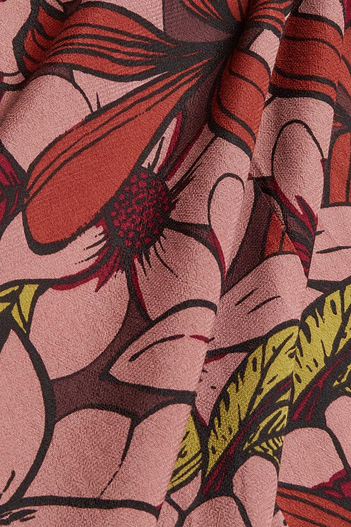 Kimono mit Blumenprint, LENZING™ ECOVERO™, TERRACOTTA, detail image number 4