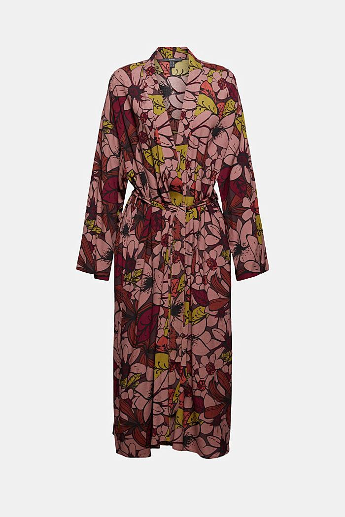 Kimono mit Blumenprint, LENZING™ ECOVERO™, TERRACOTTA, detail image number 5