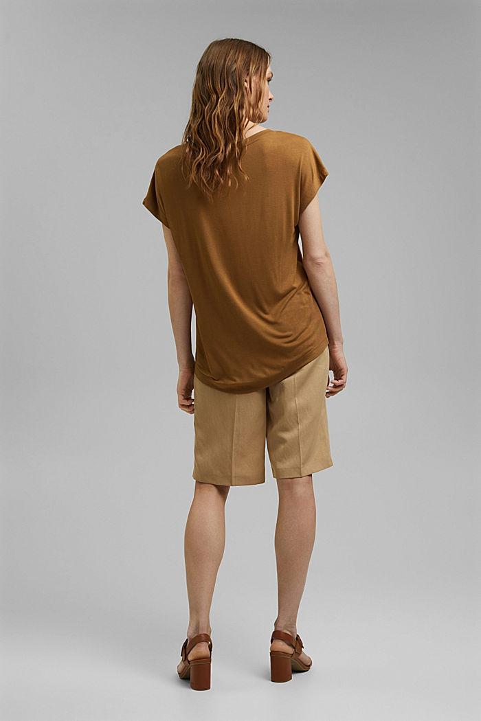T-shirt met print, van LENZING™ ECOVERO™, BARK, detail image number 3