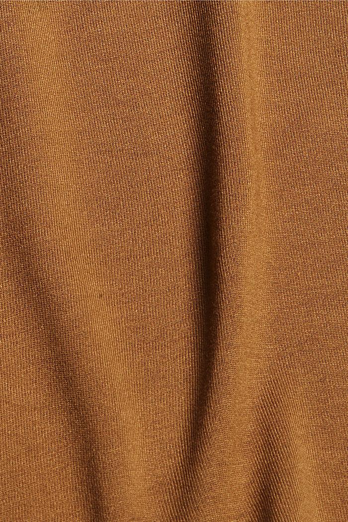 T-shirt met print, van LENZING™ ECOVERO™, BARK, detail image number 4