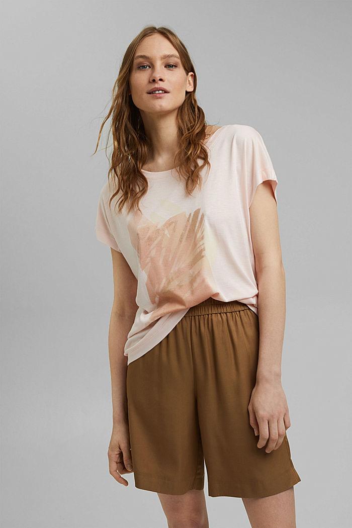 Print-T-Shirt aus LENZING™ ECOVERO™, LIGHT PINK, detail image number 0