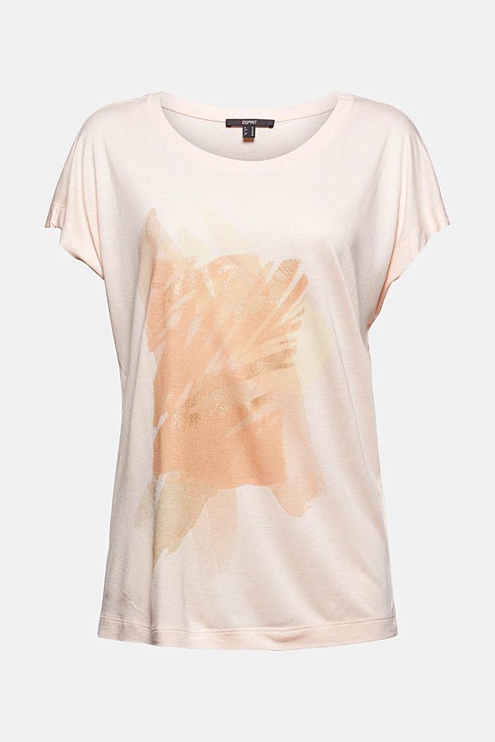 Print-T-Shirt aus LENZING™ ECOVERO™, LIGHT PINK, detail image number 6
