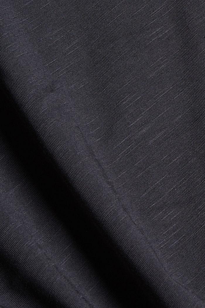 Organic cotton/TENCEL™: printed T-shirt, BLACK, detail image number 4