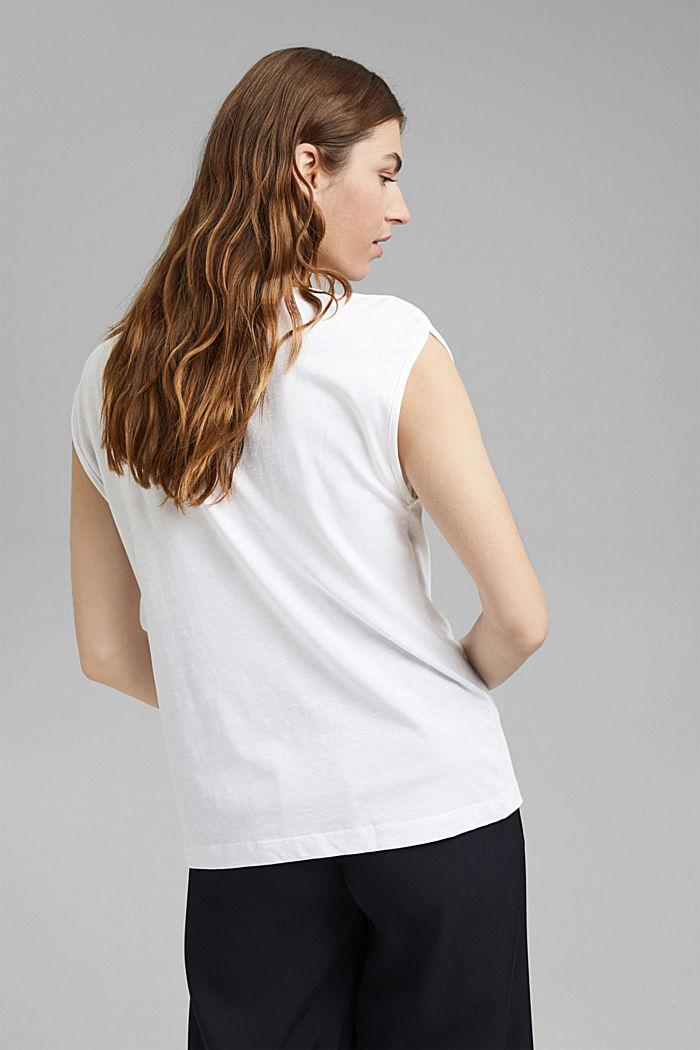 Organic cotton/TENCEL™: printed T-shirt, WHITE, detail image number 3