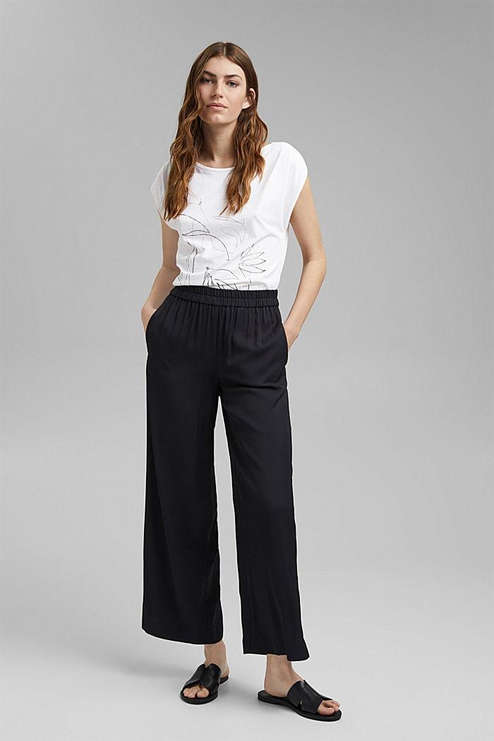 Organic cotton/TENCEL™: printed T-shirt, WHITE, detail image number 1