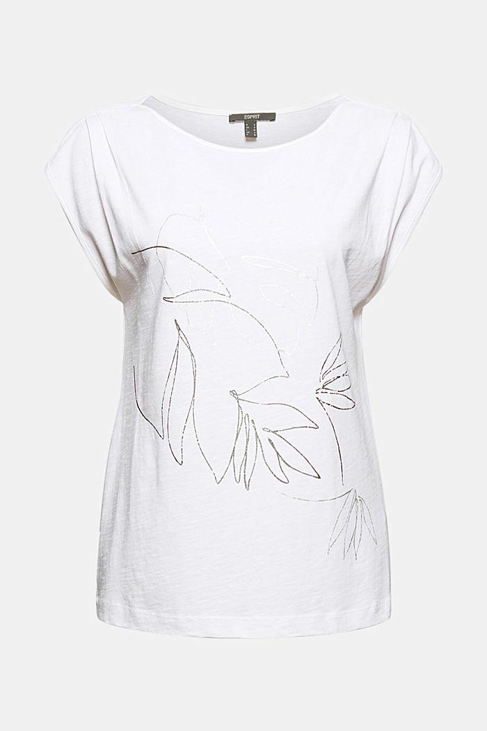 Organic cotton/TENCEL™: printed T-shirt, WHITE, detail image number 5