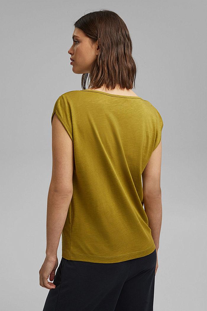 Organic cotton/TENCEL™: printed T-shirt, OLIVE, detail image number 3