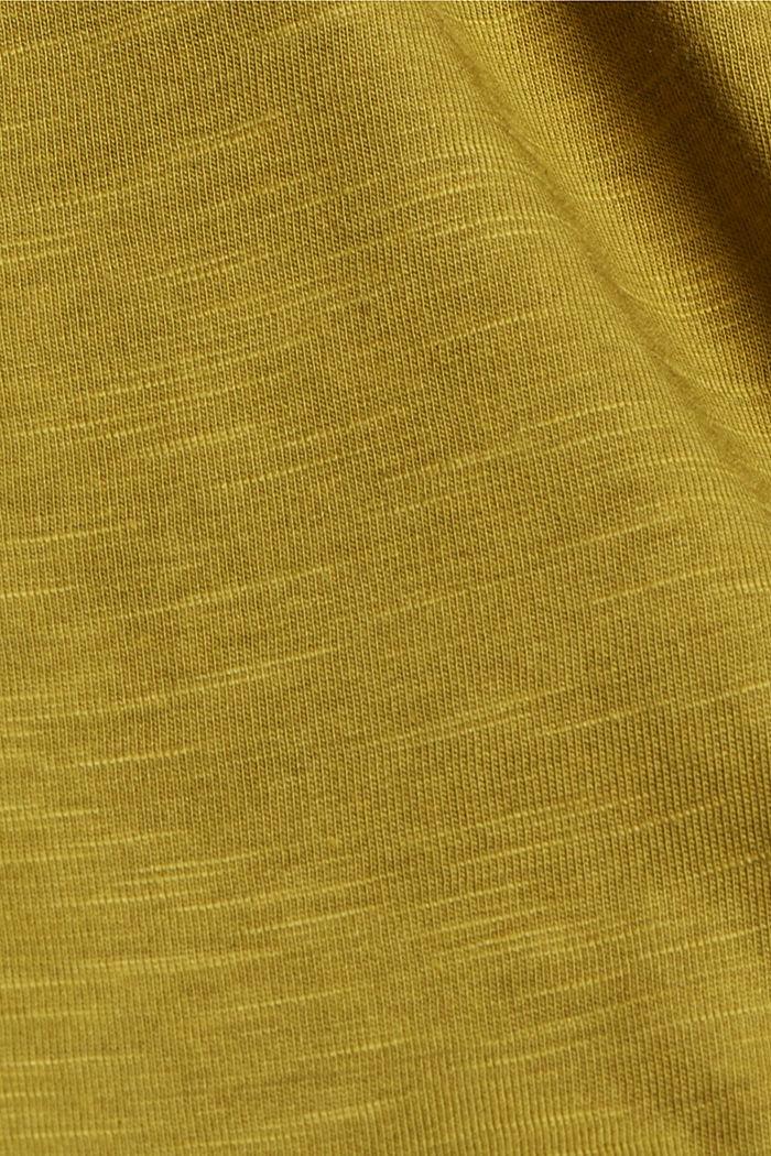 Organic cotton/TENCEL™: printed T-shirt, OLIVE, detail image number 4