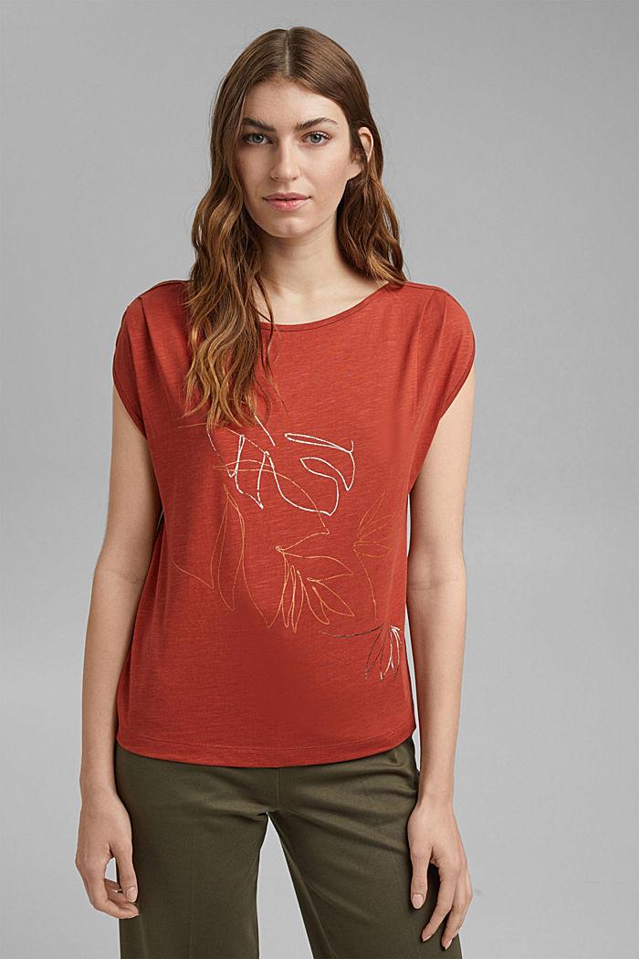 Cotone biologico/TENCEL™: t-shirt con stampa